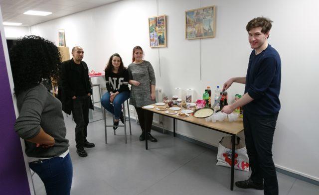 Fourchettes et culture, soirée crêpe par les résidents de Boulogne Billancourt.