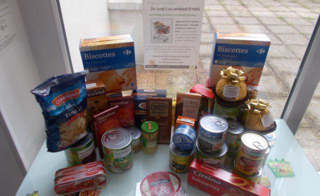 Collecte alimentaire au profit des Restos du Cœur de Boulogne